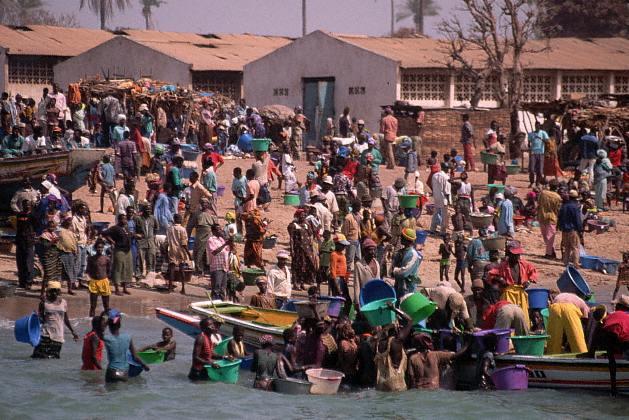 Mercado en Gambia