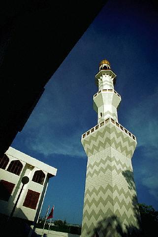 Mezquita en las islas Maldivas