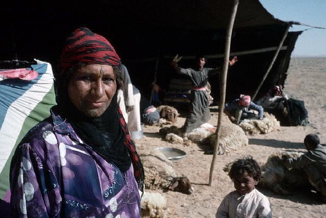 Beduinos en una jaima