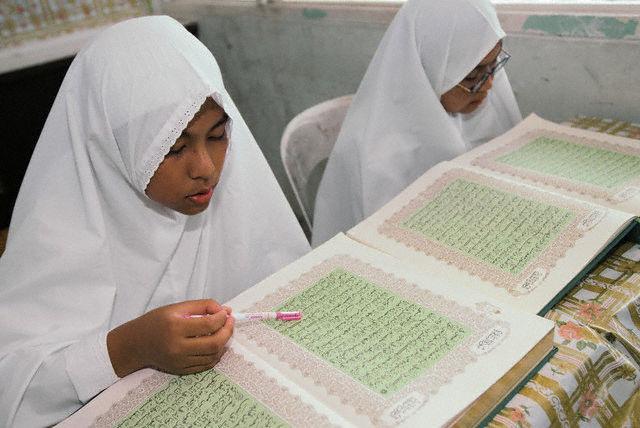 Etudiantes coraniques au Brunei