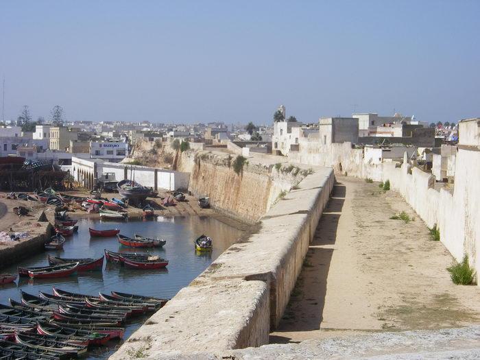 Vista de la ciudad y el puerto